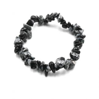Pulsera Chip Obsidiana Nevada