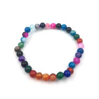 Pulsera de Esfera Ágata Multicolor