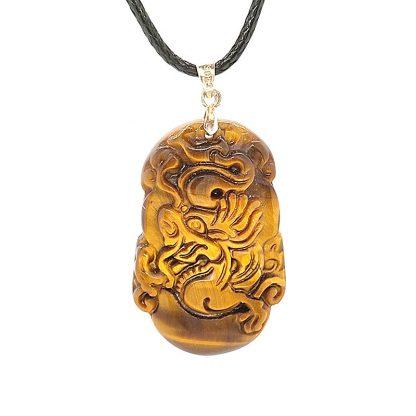 Colgante Astrología China en Ojo de Tigre