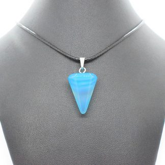 Colgante de ágata azul con forma de péndulo