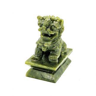 Leones de Fu Macho de Jade