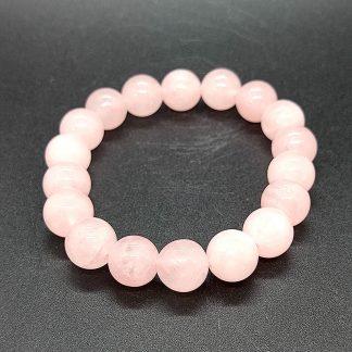 Pulsera de Esfera Cuarzo Rosa