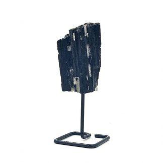 Turmalina Negra en Bruto con base de metal